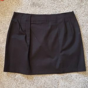 Zara black mini skirt sz l